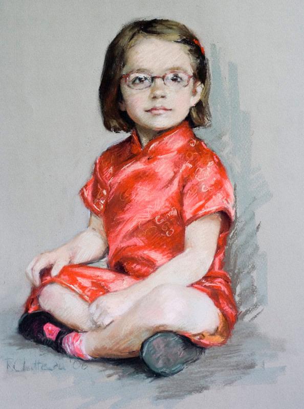 Georgia in Chinese Dress