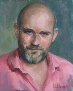 Adult Portrait - head and shoulders. Oil on canvas