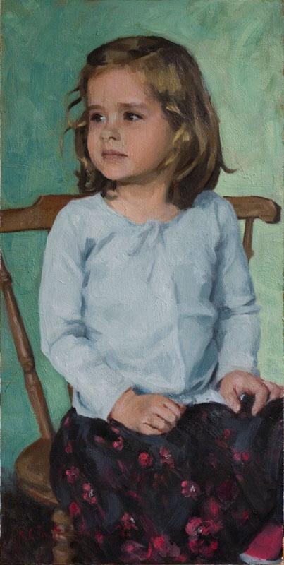 Child Portrait - oil on board 2007