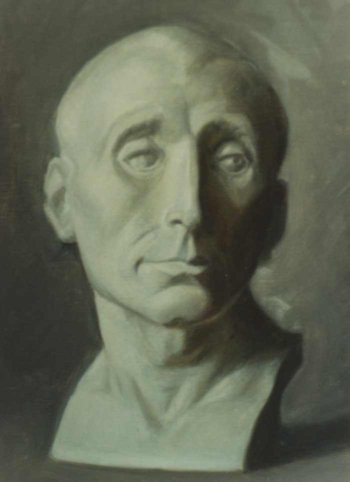 oil painting of a plaster cast - oil on canvas