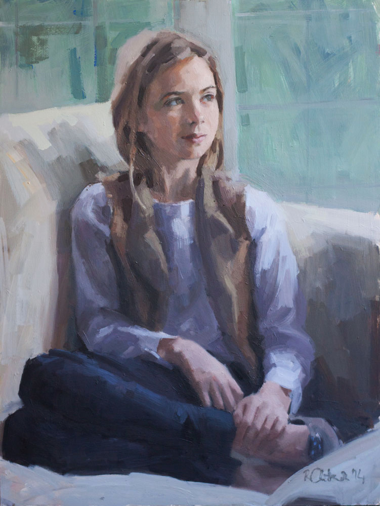 oil portrait of a girl