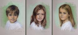 portraits of 3 siblings