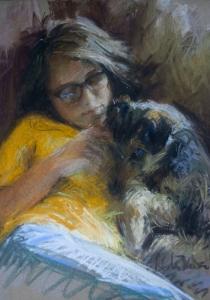 Georgia and her Dog