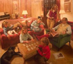 Family Portrait - oil on canvas