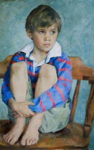 An Oil Portrait of a Young Boy