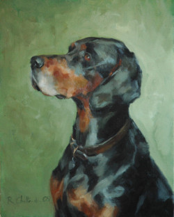 Portrait of a Dog - oil on canvas