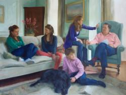 Family Portrait: Oil on Canvas