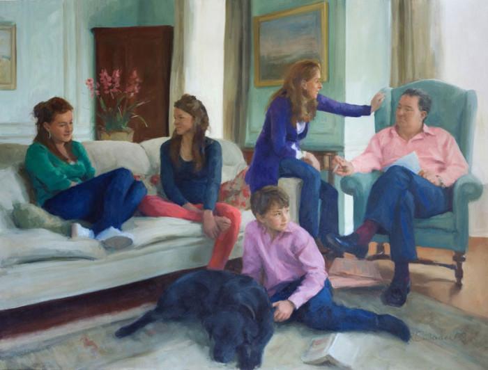 Family Portrait - oil on canvas 2008