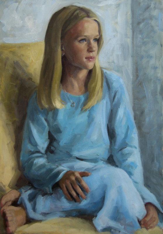 Child Portrait: oil on board