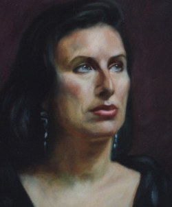 Oil portrait of an Italian lady painted in Florence