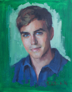 Oil portrait of a young man