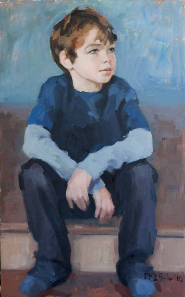 oil portrait of young boy