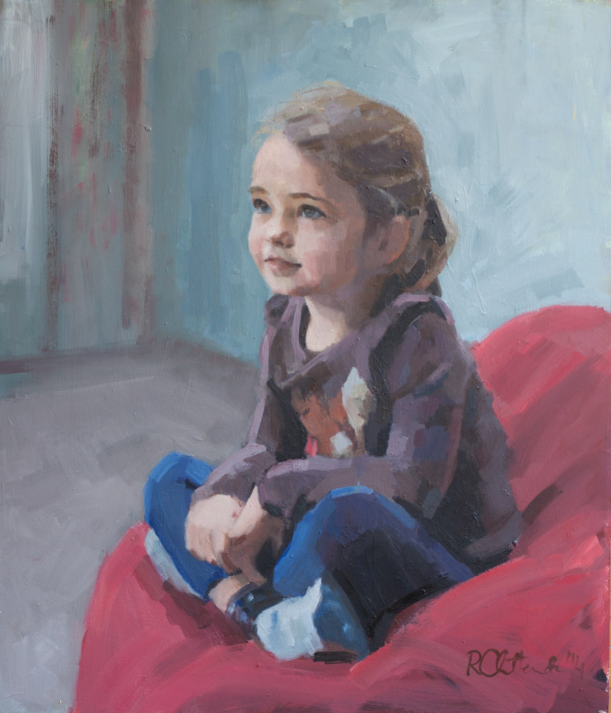 oil portrait of young girl