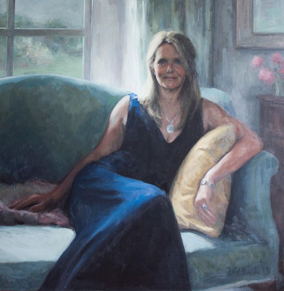 oil portrait of the artist's sister