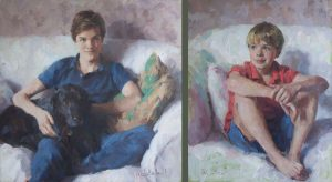 Oil portraits of two brothers