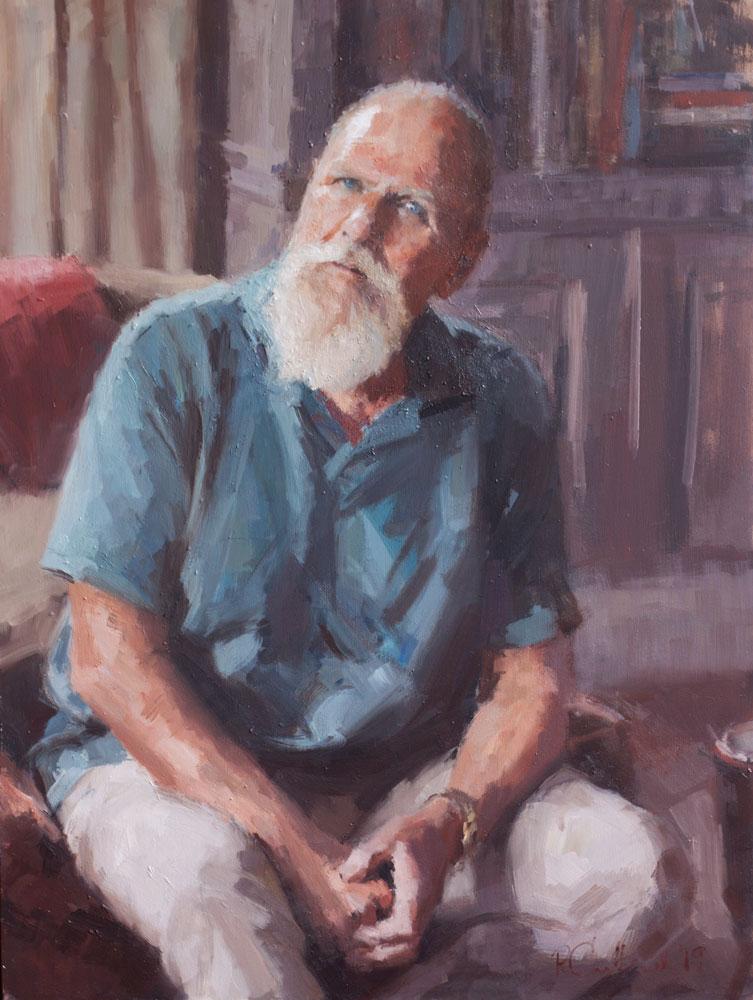 oil portrait of an elderly man