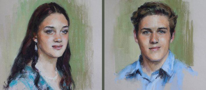 portraits of siblings