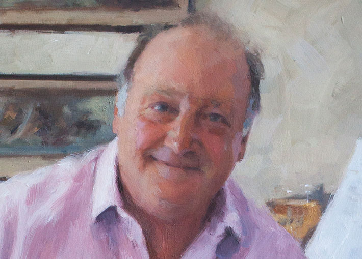 closeup of portrait of man